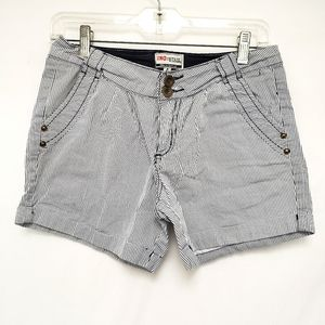 Blue & White Sriped Industrie Shorts